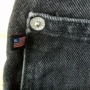 Polo by Ralph Lauren Jeans - RL Polo Black Denim Jeans, sz 40x30